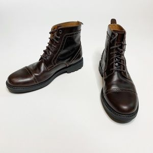 Clarks   Men's Lace Up Leather Cap Toe Boot   9